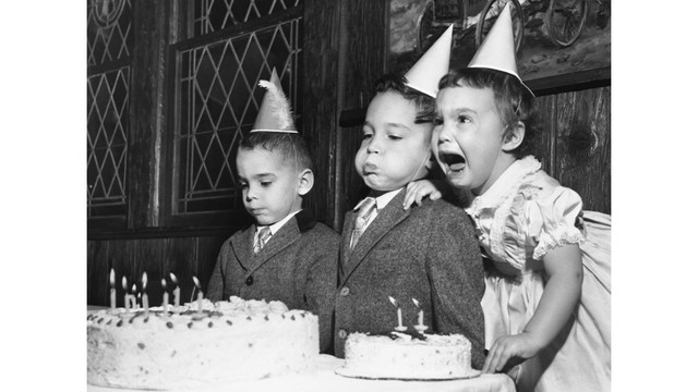 Blowing out candles on cake increases bacteria