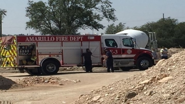 Texas man trapped in concrete overnight sent to burn center