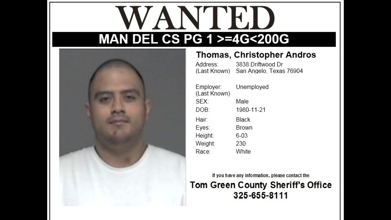 Tom Green County Sheriff's Office Has Issued a Wanted Poster