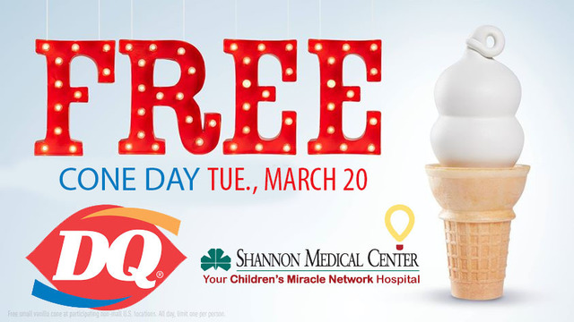 Dairy Queen celebrates free cone day on Tue, March 20th