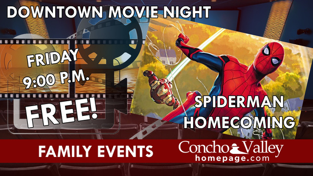 FREE! Downtown Movie Night: Spiderman Homecoming
