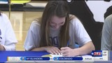 Water Valley's Kenzie Jordan signs with ASU volleyball 12/17/18
